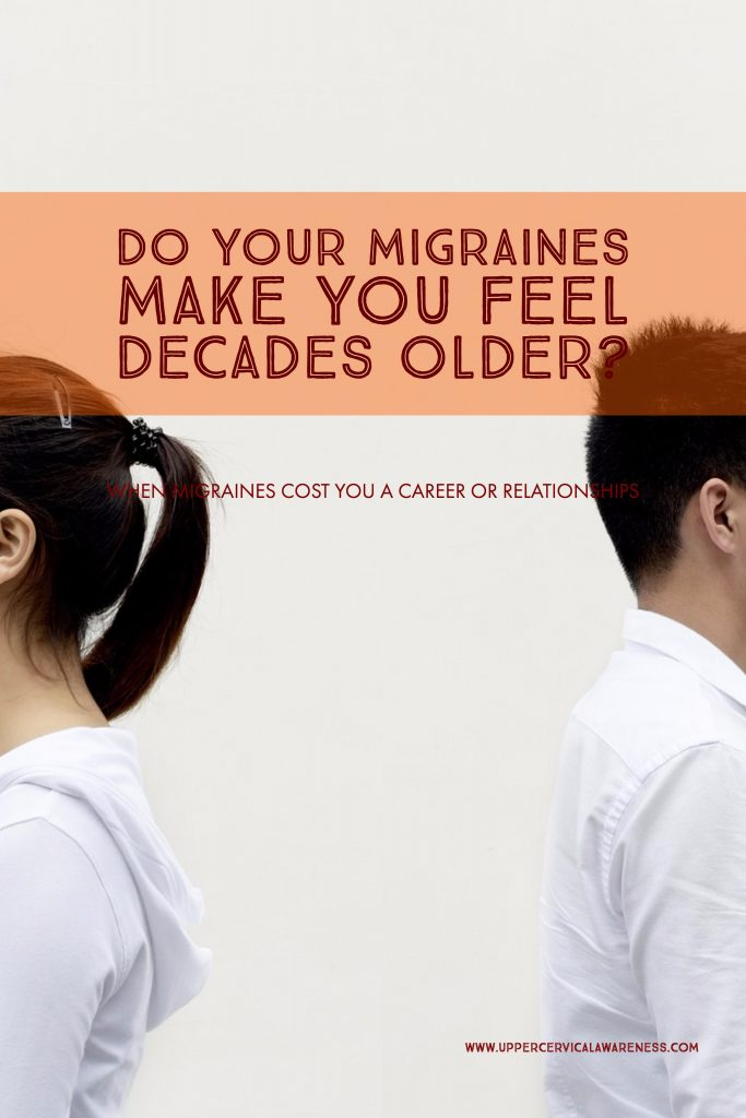 How migraine makes you feel old?
