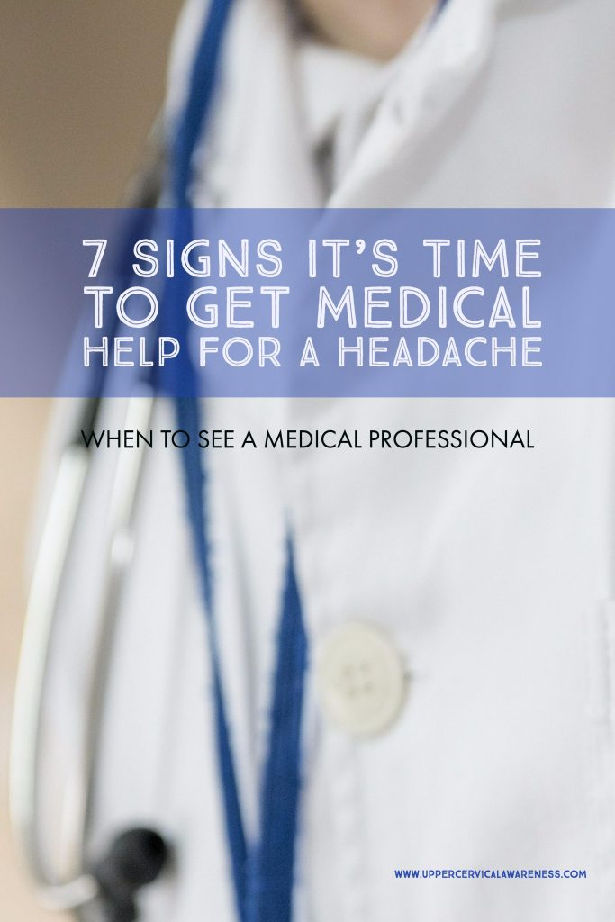 Signs that you need medical help for your headache