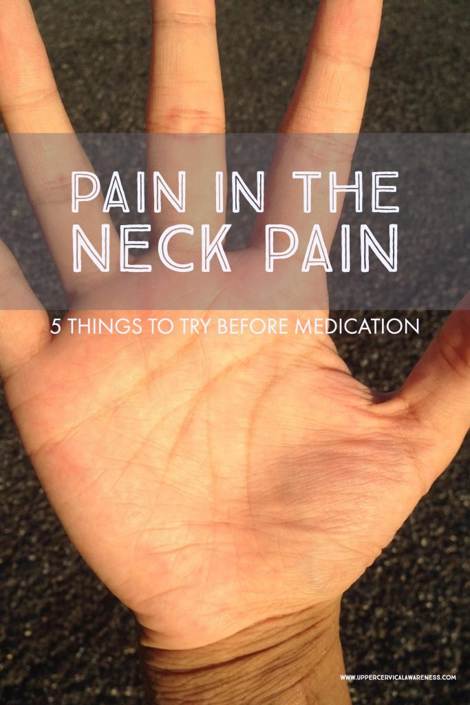 Tips to try before taking neck pain medications