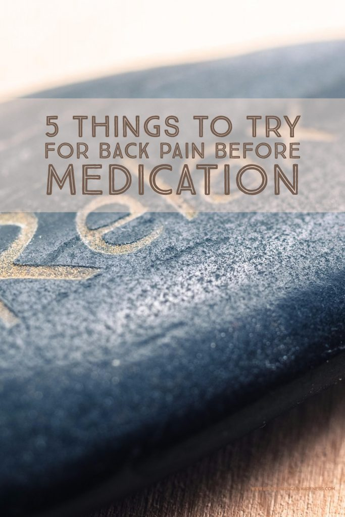 Back pain remedies to try before taking medication