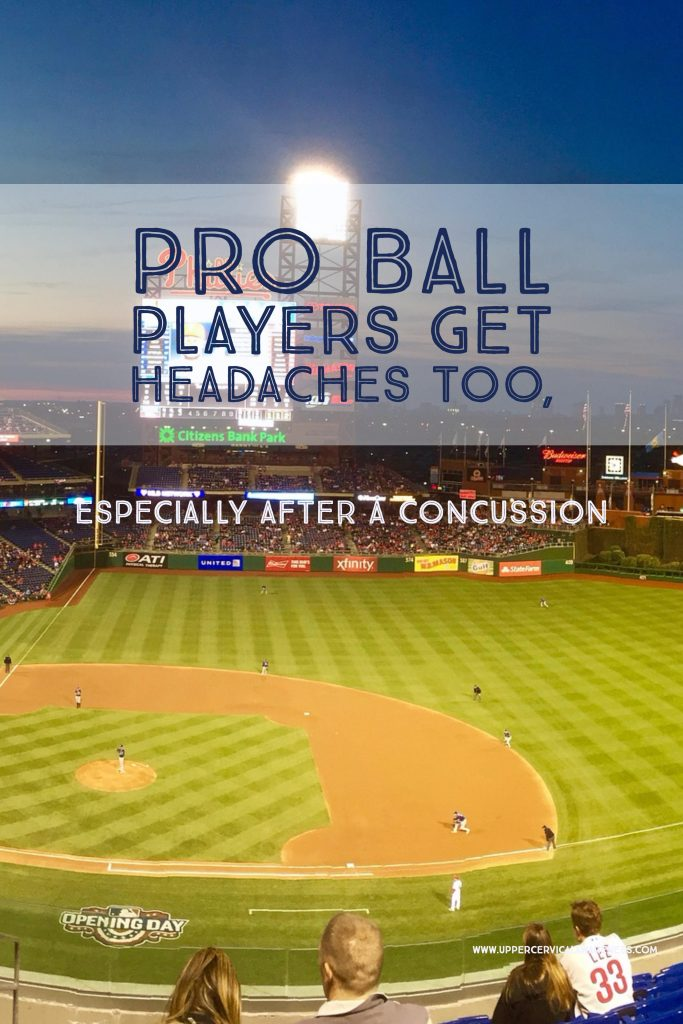 Why post concussion pro ball players gets headache?