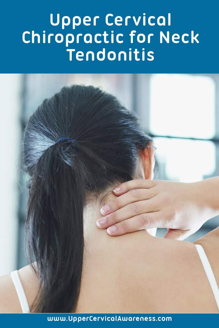 Upper cervical treatment for neck tendonitis