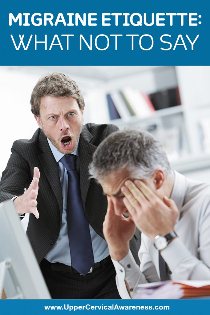 Etiquette for people suffering Migraine