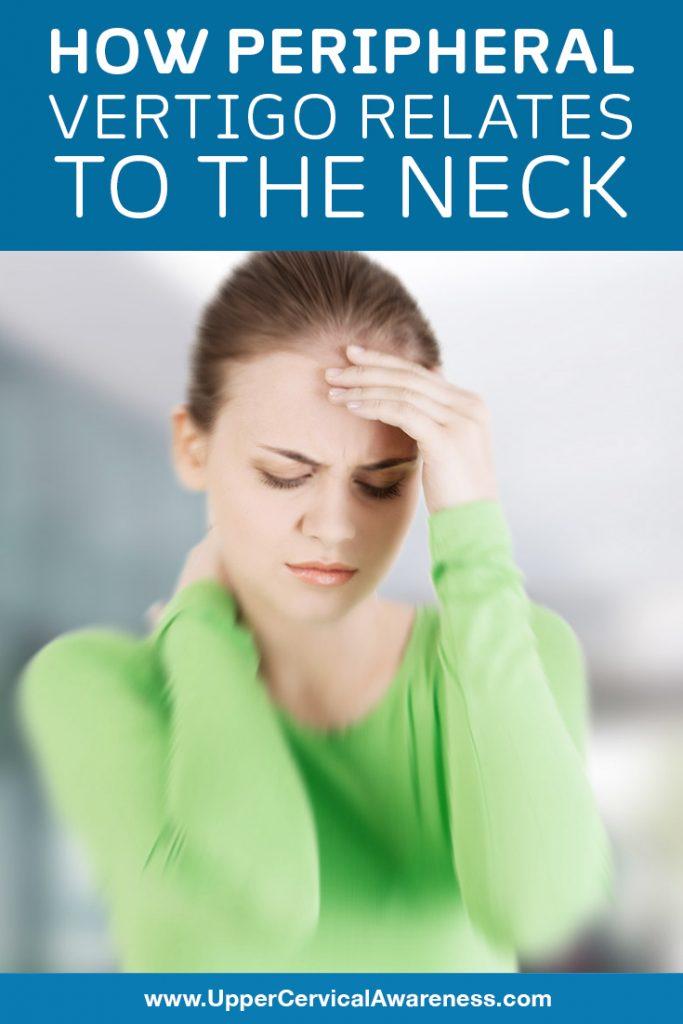 Peripheral vertigo in relation to the neck