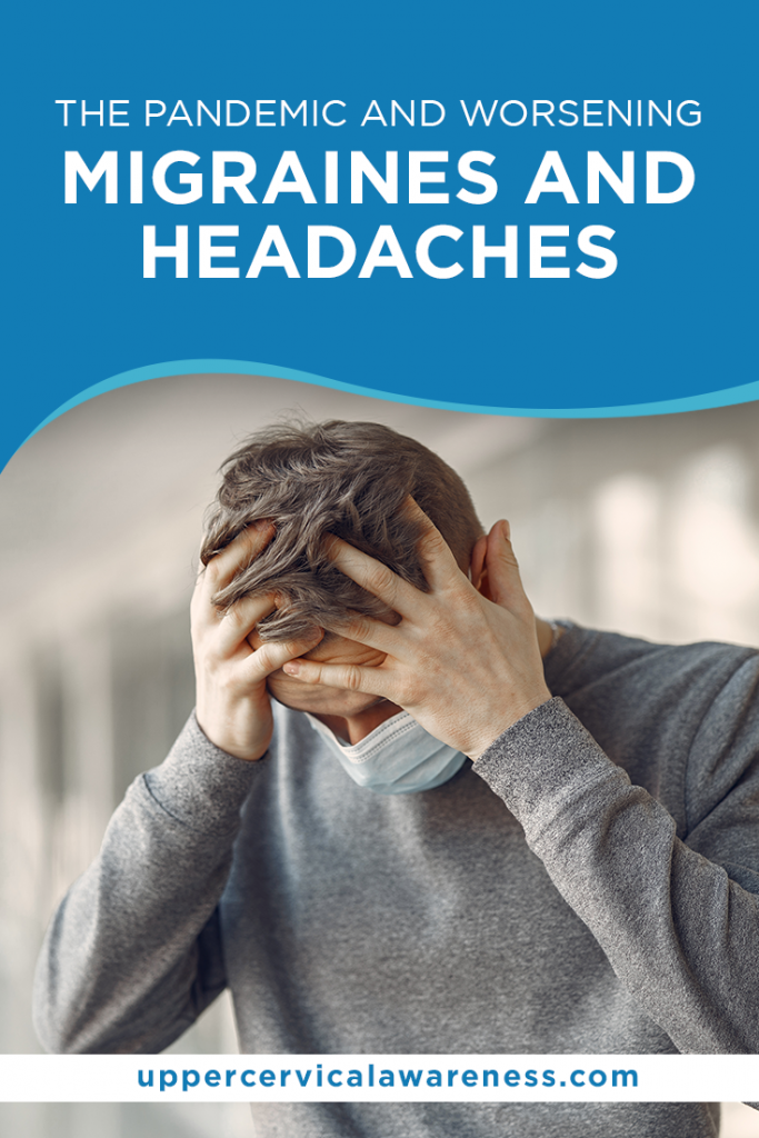 pandemic, throbbing headache on top of the head