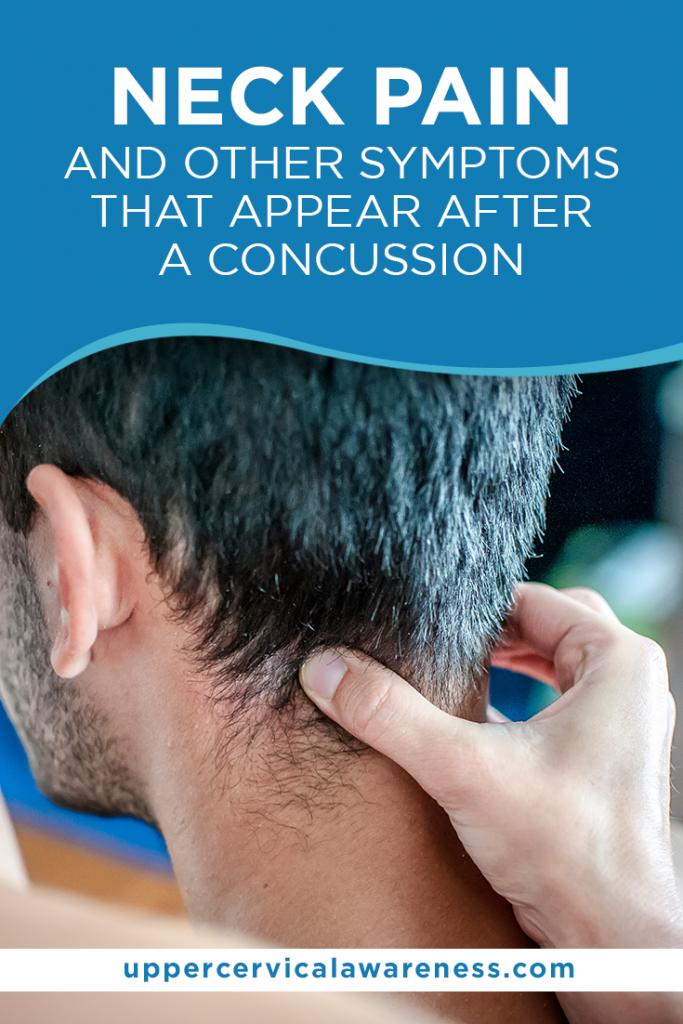 neck pain after a concussion